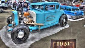 习惯20世纪30年代福特模型A旧车改装的高速马力汽车 图库摄影
