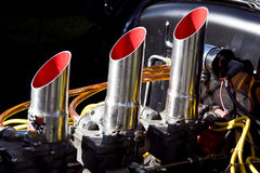 习惯Hotrod引擎 免版税库存图片