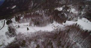乡下公路在冬天雪国家 影视素材