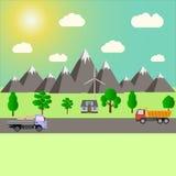 乡下和高速公路 向量例证