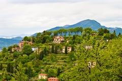 乡下在Lombardia,意大利 免版税库存照片