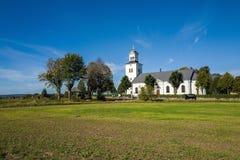 乡下教会在瑞典 免版税库存图片