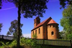 乡下教会 图库摄影