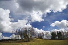 乡下早期的横向春天 免版税图库摄影