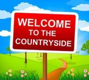 乡下欢迎意味问候风景和问候 免版税库存照片