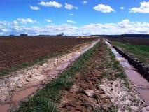 乡下泥泞的跟踪 免版税库存图片
