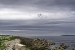 乡下海景在约翰o `少量附近的一个区域 库存图片