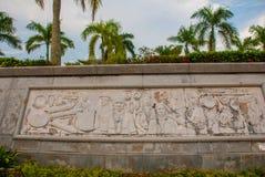 乡下生活带状装饰装饰  米里市爱好者公园,婆罗洲,沙捞越,马来西亚 图库摄影