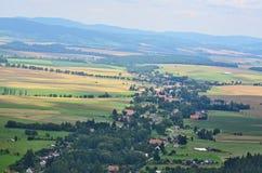 乡下的看法, Broumov地区 免版税库存图片