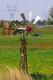 乡下荷兰语风车 免版税图库摄影