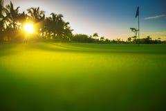 乡下蓬塔Cana手段的高尔夫球场 库存照片