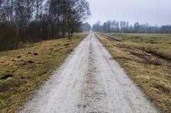 乡下运输路线 免版税图库摄影