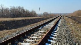 乡下铁路在早期的春天好日子 影视素材