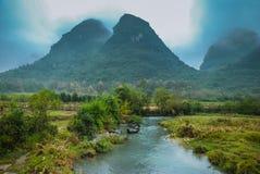 乡下风景在秋天 免版税库存照片