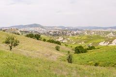 乡下风景在Val d ` Agri,巴斯利卡塔 图库摄影