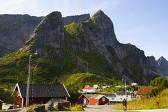 乡下风景看法在挪威 图库摄影
