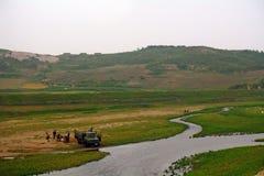 乡下,北朝鲜 库存图片
