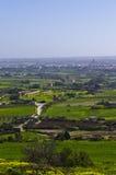 乡下,拉巴特马耳他鸟瞰图  图库摄影