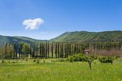 乡下- Orpiano -马切拉塔-马尔什-意大利 免版税库存照片