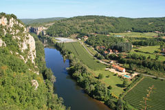 乡下arround圣徒Cirq laPopie,法国 免版税库存图片