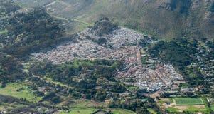 乡在开普敦,南非鸟瞰图 免版税库存图片