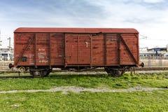 乡愁火车停放了在访客的Haydarpasa驻地,伊斯坦布尔,土耳其 3月` 2017年 库存图片
