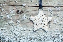 乡村模式的圣诞节星 库存照片