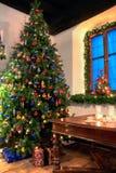 乡村模式的圣诞节 库存照片