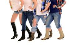 乡村舞蹈线路妇女 免版税库存图片