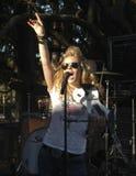 乡村音乐stoval natalie的歌唱家 免版税库存照片