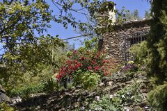 乡间别墅在兰哈龙 库存图片