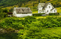 乡间别墅在挪威 免版税库存照片