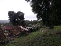 乡间别墅的废墟 免版税库存图片
