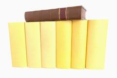 书书限制皮革老行黄色 图库摄影