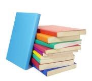 书五颜六色的教育栈 免版税库存图片