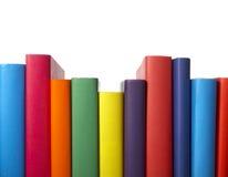 书五颜六色的教育栈 库存图片