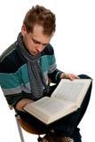 书人年轻人 免版税库存图片
