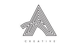 书信设计商标 在与现代Swoosh的一个象商标上写字 库存照片