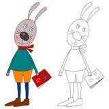 书兔宝宝着色 图库摄影