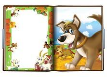 书关于狗-孩子的例证 库存照片
