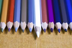 书写连续,一支铅笔提出的颜色 库存图片