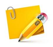 书写黄色 免版税库存图片