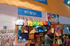 书刊上的图片,印地安工艺品公平在加尔各答 库存照片
