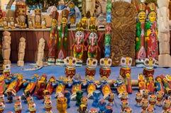 书刊上的图片,印地安工艺品公平在加尔各答 免版税库存照片