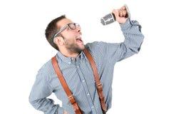 书呆子摆在 免版税图库摄影