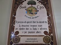 书周期在罗马,意大利 库存图片