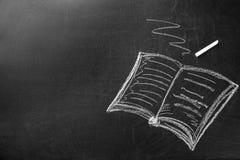 书和白垩图画在船上 老师` s天 向量例证