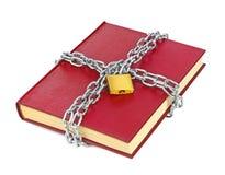 书和链子 免版税库存照片