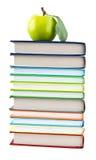 书和Apple 免版税图库摄影