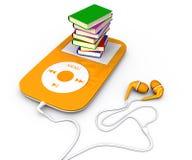 书和MP3播放器 库存照片